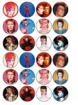 24 x David Bowie Ziggy Stardust edible wafer paper bun cup cake top toppers